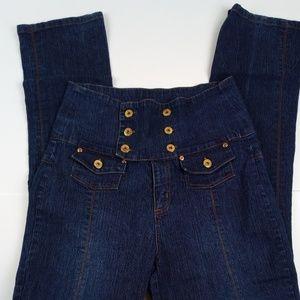 Women's LIPSY Stretch High Waist Skinny Blue Jeans